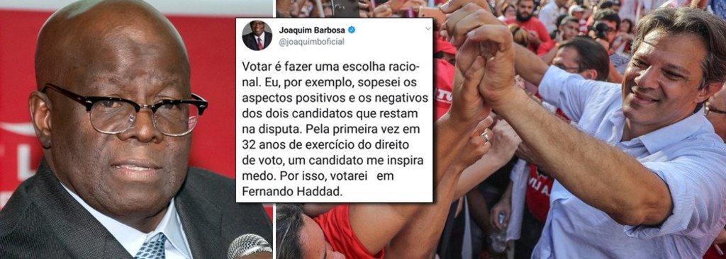 Joaquim Barbosa abre voto em Haddad  - Gente de Opinião
