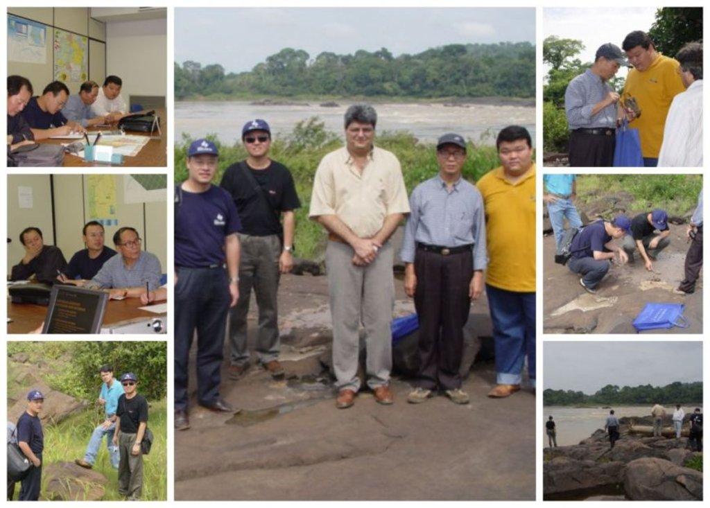 Chineses visitaram o local que estava destinado à construção da UHE Jirau, em novembro de 2004. Na foto central, o mais alto é o engenheiro Afonso Goulart, na época gerente do escritório de Furnas em Porto Velho (Fotos JCarlos) - Gente de Opinião