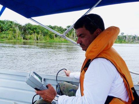 Qualidade da água -  Hidrelétrica Santo Antônio monitora Rio Madeira