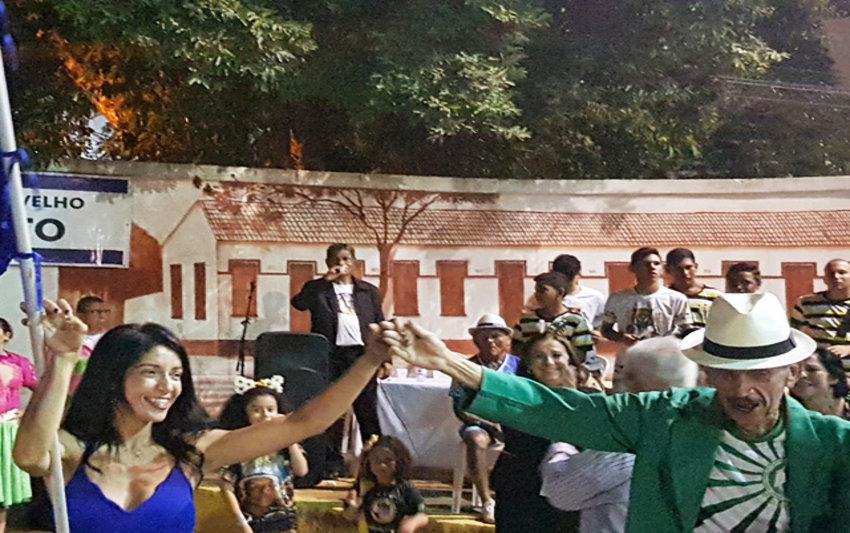 Show das escolas de samba pelo centenário de Marise