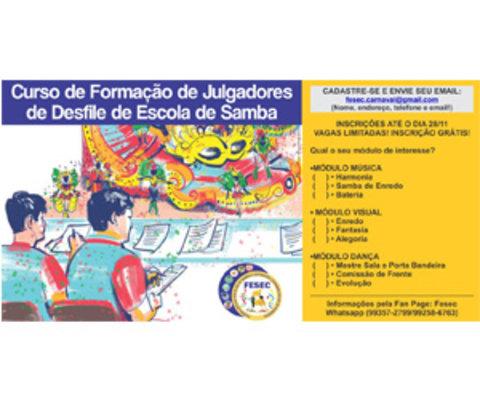 Fesec promove curso jurado de escola de samba