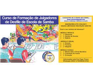 Fesec promove curso jurado de escola de samba - Gente de Opinião