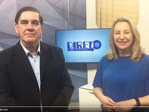 A deputada federal eleita Jaqueline Cassol é entrevistada no programa Direto ao Ponto