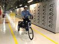 Triciclos agilizam os trabalhos dos operadores da Hidrelétrica Santo Antônio