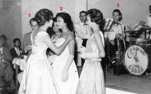 Concurso da Rainha da URES no Bancrévea Clube no ano de 1963 - Gente de Opinião
