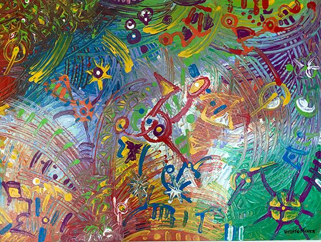 Carnaval Gestual, acrílica sobre tela (Viriato Moura) - Gente de Opinião