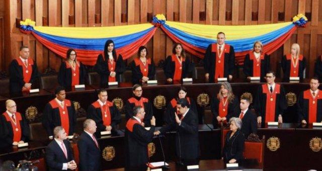 O presidente Nicolas Maduro durante posse do seu segundo mandato na Venezuela. Foto Twitter - Gente de Opinião