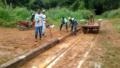 REINSERÇÃO SOCIAL: Apenados realizam limpeza nos trilhos da Estrada de Ferro Madeira-Mamoré