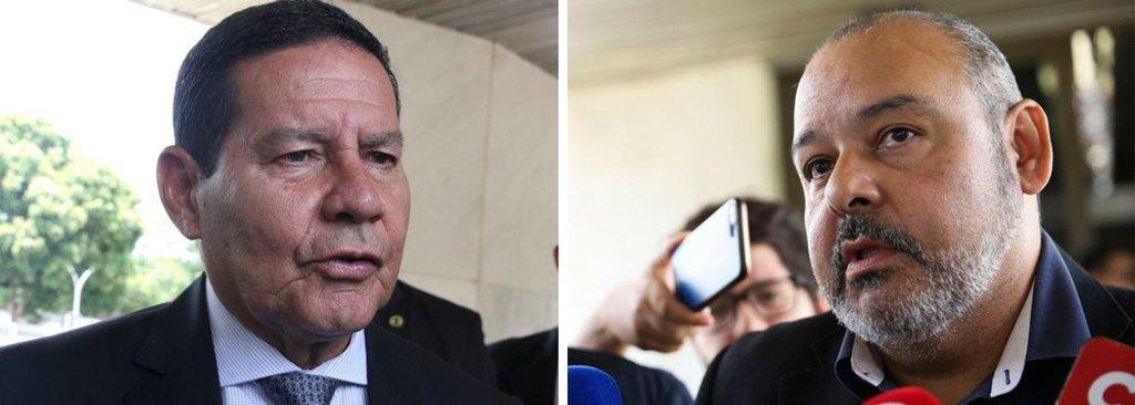 Vice-presidente Mourão recebe CUT. Que critica  a Reforma da Previdência - Gente de Opinião
