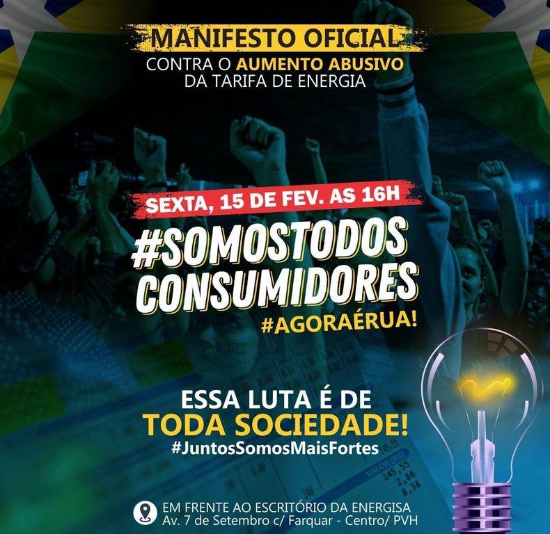 Manifesto contra o aumento da energia elétrica em Rondônia acontece nesta sexta-feira em todo o estado - Gente de Opinião