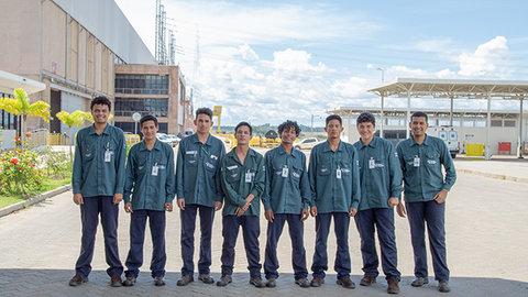Jovens aprendizes têm oportunidade de qualificação profissional na Usina Jirau