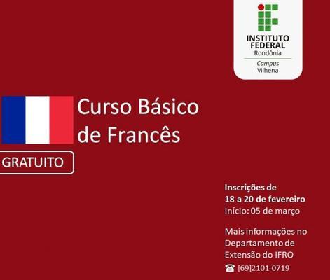 Campus Vilhena do IFRO oferta cursos gratuitos nas áreas  de espanhol, francês e italiano
