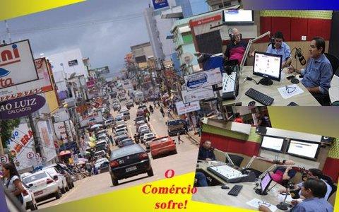 Os rondonienses invadiram Brasília -  Hildon abre o jogo na TV - Comércio protesta contra os ambulantes e da desorganização do centro da cidade