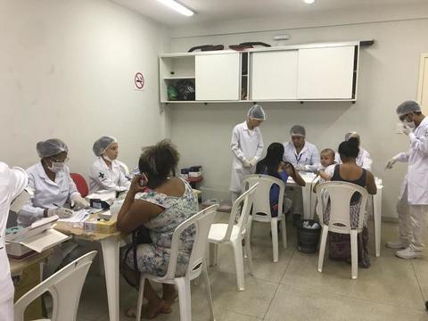 """Acadêmicos do curso de Biomedicina realizam triagens no projeto """"Posso escolher"""""""