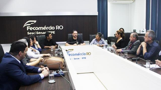 Fecomércio/RO em reunião com o deputado Federal Léo Moraes debate Aviação Regional - Gente de Opinião