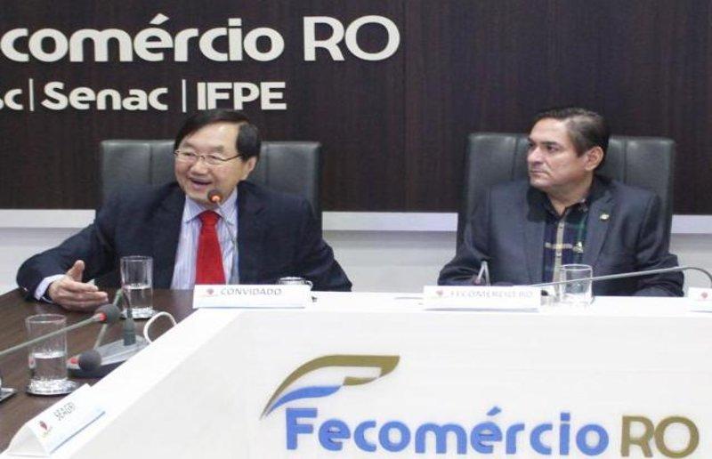 Presidente da Câmara de Comércio e Indústria Brasil/China participa de reunião na  Fecomércio/RO