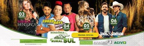 Grandes nomes dos shows sertanejos no palco da Rondônia Rural Sul