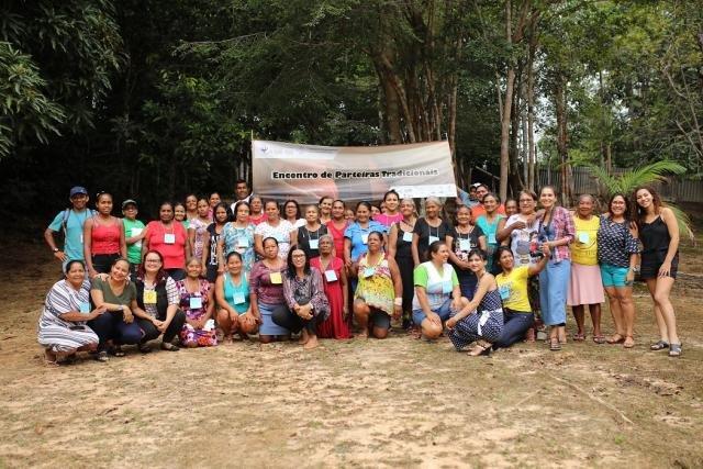 Encontro reuniu parteiras tradicionais e representantes de organizações (Foto: Everson Tavares) - Gente de Opinião