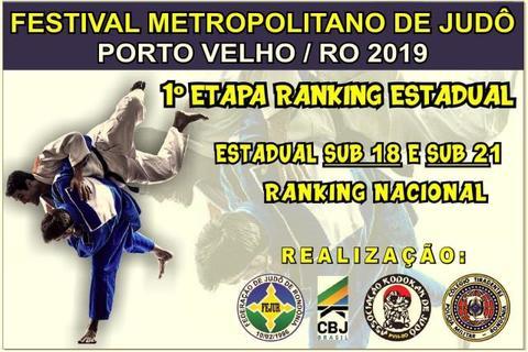 Judocas disputam Festival Metropolitano e Campeonato Estadual neste sábado, em Porto Velho