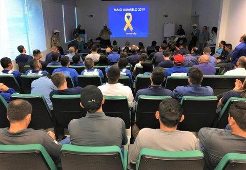 Hidrelétrica Santo Antônio participa do movimento Maio Amarelo