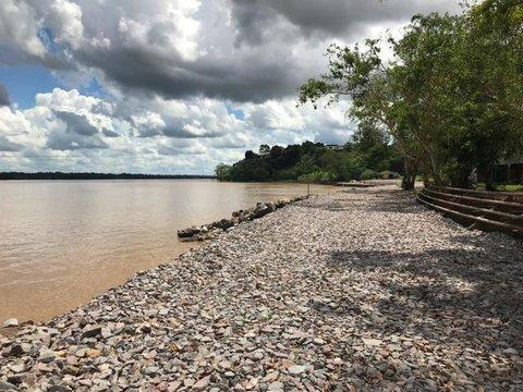 Obra de proteção das margens do rio Madeira está em fase de finalização