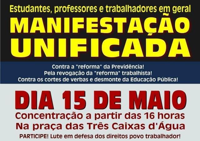 Rondônia terá paralisação e protesto em dia de mobilização nacional pela educação - Gente de Opinião