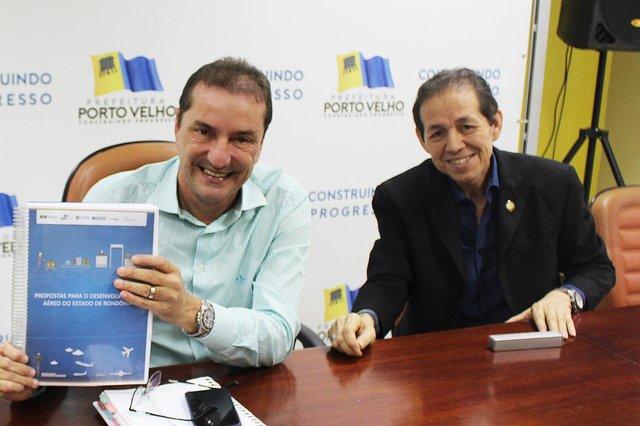 Fecomércio apresenta Proposta para o Desenvolvimento Aéreo de Rondônia ao Prefeito Hildon Chaves - Gente de Opinião