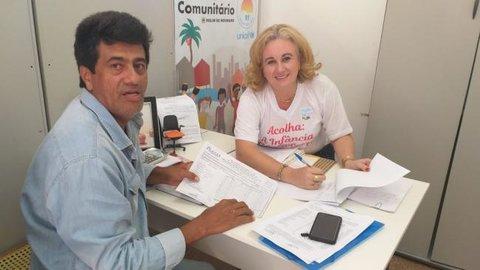PAA - Secretária de Assistência Social recebe presidente da Adagrim