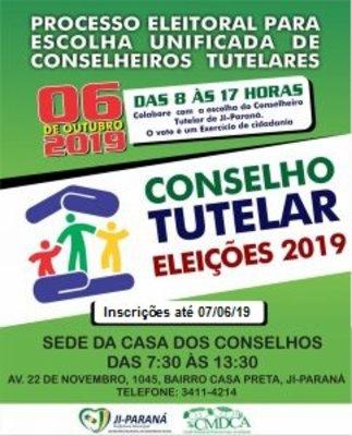 Ji-Paraná: Prorrogado o prazo de Inscrição para eleição dos Conselheiros Tutelares