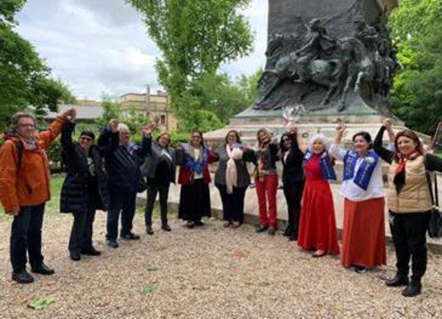 Estátua Anita Garibaldi  na Colina do Gianícolo na Praça Anita Garibaldi  em Roma - Gente de Opinião