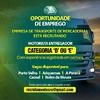 Empresa de Transporte de Mercadorias está recrutando motorista entregador urgente