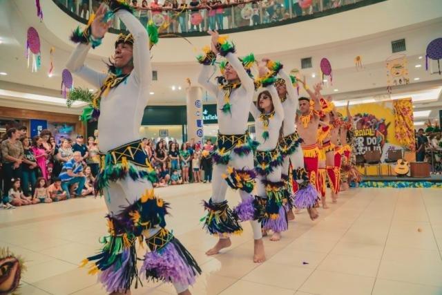 Lançamento oficial da 38ª edição do Flor do Maracujá foi marcado pela apresentação de quadrilha e boi-bumbá no shopping de Porto Velho  O lançamento oficial da 38ª edição do Arraia - Gente de Opinião