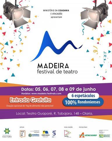 Prêmio Sesc de Incentivo às  Artes Cênicas de Rondônia 2019 - Madeira Festival de Teatro - Gente de Opinião