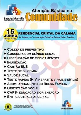 Semusa realiza ação de saúde no Residencial Cristal Calama em Porto Vleho