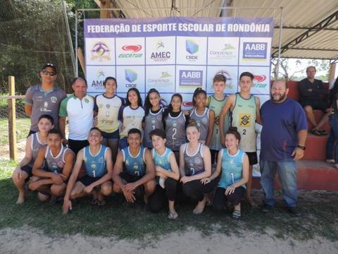 Rondônia classifica seis vagas ao Brasileiro Escolar de Volêi de Praia, em agosto, na Paraíba
