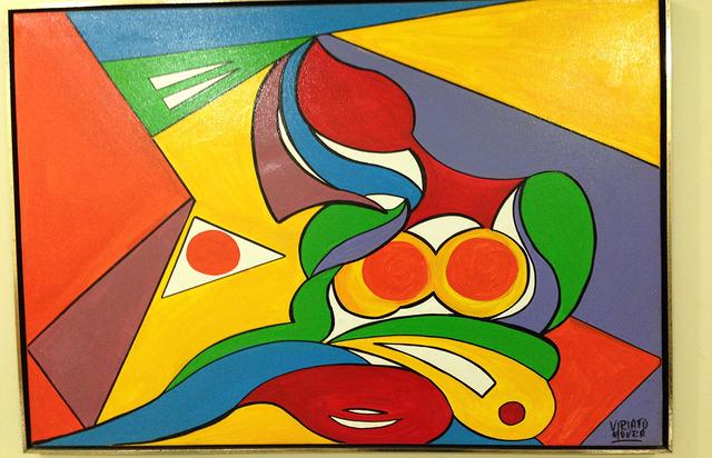 Fragmentos Femininos, acrílica sobre tela (Viriato Moura)
