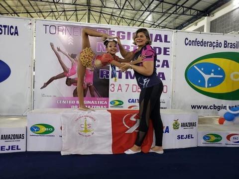 Ginasta de Rondônia leva ouro em torneio Regional de Ginástica Rítmica-etapa Norte no Amazonas