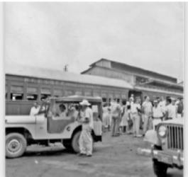 Embarque na ferrovia Madeira-Mamoré, em Porto Velho, nos anos de 1940 - Gente de Opinião