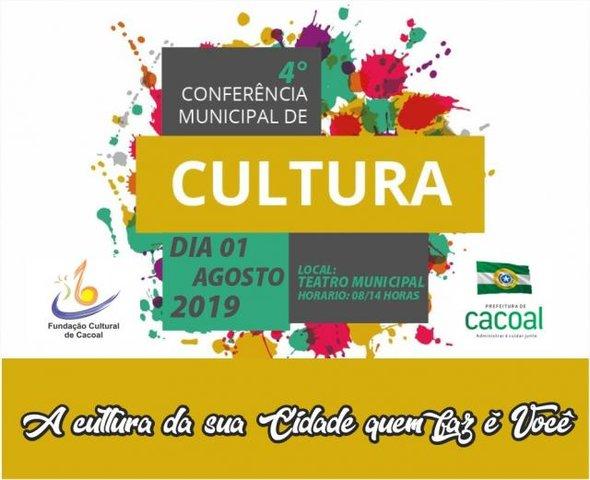 Cacoal: Conferência municipal de cultura será nesta quinta-feira - Gente de Opinião