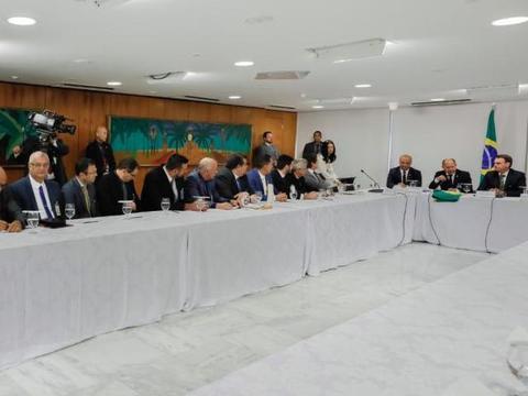 Representantes do setor produtivo reúnem com o presidente Bolsonaro