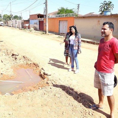 Cristiane Lopes cobra retomadas das obras no Conceição após rompimento de cano  - Gente de Opinião