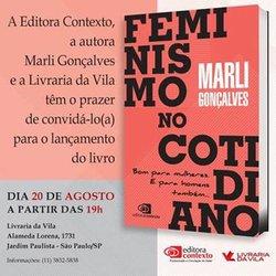 Vivendo o feminismo:  Contexto lança novo livro da coleção cotidiano - Gente de Opinião