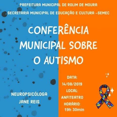 Conferência Municipal sobre Autismo acontece nesta quarta-feira, (14) em Rolim de Moura - Gente de Opinião