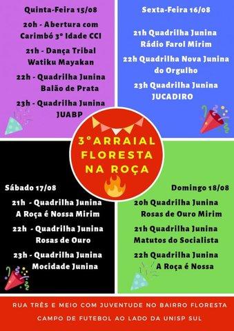 Forró da Luzia em Porto Velho  será sábado na OAB - Começa nesta quinta feira o arraial Floresta na Roça - Gente de Opinião