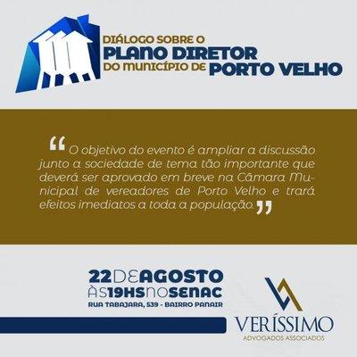 Fecomércio/RO convida empresários e população em geral para participar do Diálogo sobre o Plano Diretor de Porto Velho