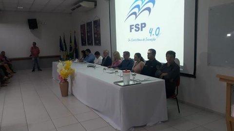 Vice-prefeito de Rolim de Moura Fabrício Melo participa de lançamento do Núcleo de Inovação Tecnológica da FSP
