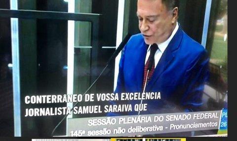 Senador Álvaro Dias (Líder do Podemos) destaca propostas de Samuel Saraiva sobre Meio Ambiente