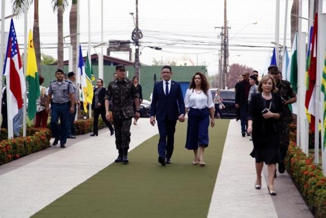 Chegada do governador ao Palácio Rio Madeira, onde aconteceu a solenidade de abertura da Semana da Pátria - Gente de Opinião