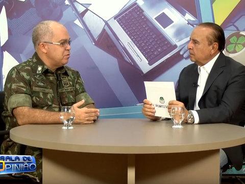 Dr. Aparício Carvalho conversou com o comandante da 17° Brigada de Infantaria de Selva de Rondônia General Eduardo Leal