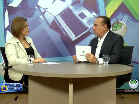 Dr. Aparício Carvalho entrevista a coordenadora do curso de Terapia Ocupacional da FIMCA Prof. Elizete Moreira